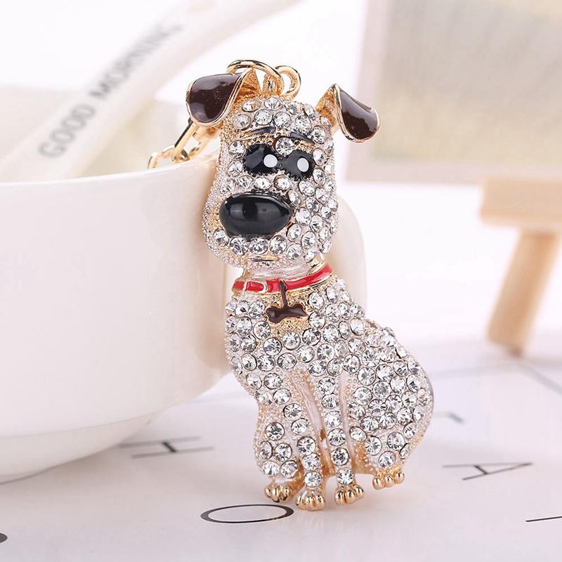 thumbnail 9 - South-Korean-Hot-Crystal-Puppy-Dog-Keychain-Key-Ring-Trinket-Purse-Bag-Car-Y5C7