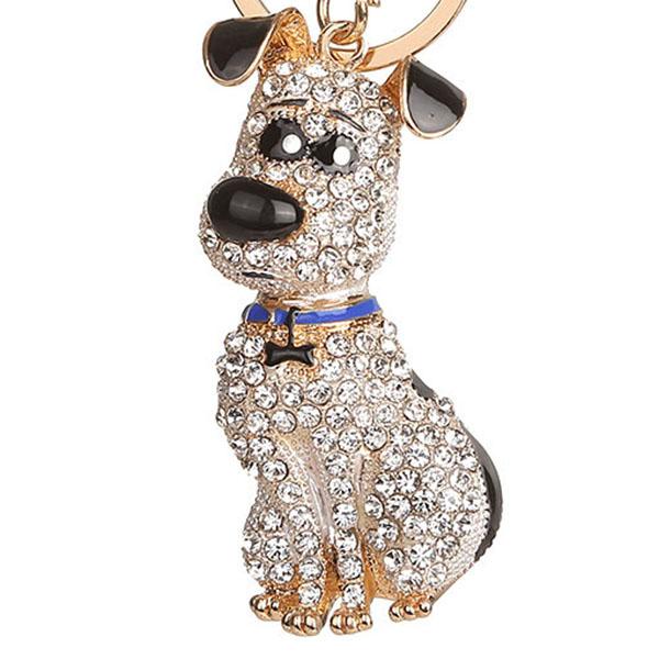 thumbnail 13 - South-Korean-Hot-Crystal-Puppy-Dog-Keychain-Key-Ring-Trinket-Purse-Bag-Car-Y5C7