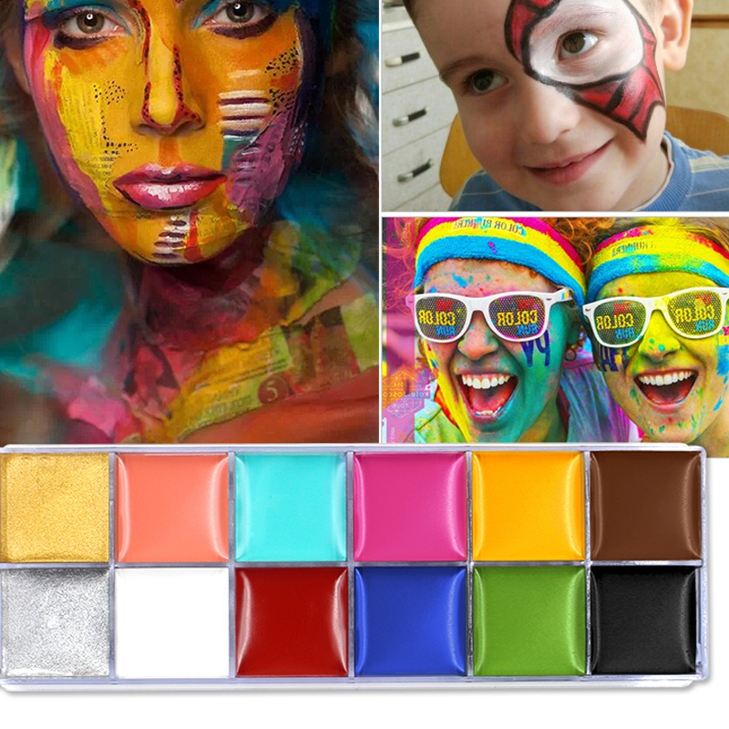 IMAGIC-12-Colors-Flash-Tattoo-Face-Body-Paint-Oil-Painting-Art-Use-In-Party-M6O2 thumbnail 2