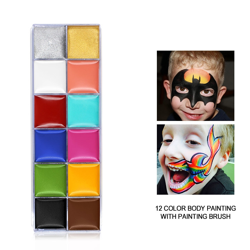 IMAGIC-12-Colors-Flash-Tattoo-Face-Body-Paint-Oil-Painting-Art-Use-In-Party-M6O2 thumbnail 3