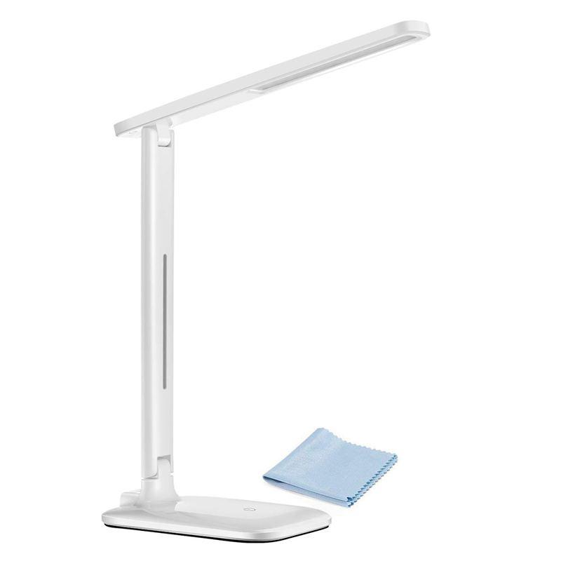3X(Led Schreibtischlampe, Faltbare, Dimmbare Büro Lampe mit 9 Helligkeit, T4X5)