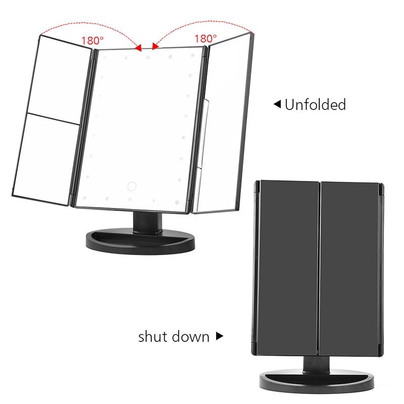 2X-LED-Press-Screen-22-Light-Makeup-Mirror-Table-Desktop-Makeup-1X-2X-3X-10-Q9T1 thumbnail 5