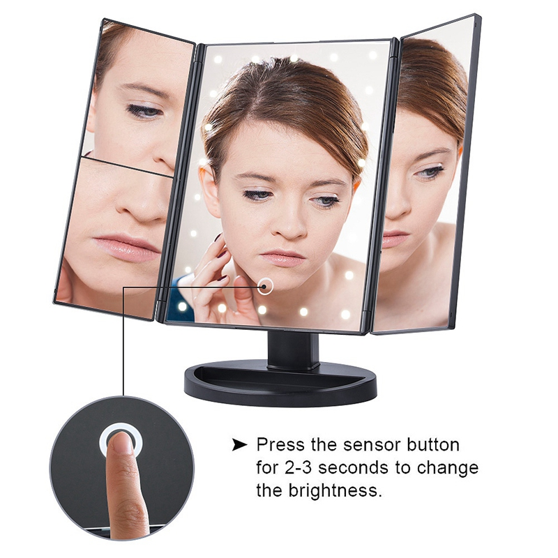 2X-LED-Press-Screen-22-Light-Makeup-Mirror-Table-Desktop-Makeup-1X-2X-3X-10-Q9T1 thumbnail 9