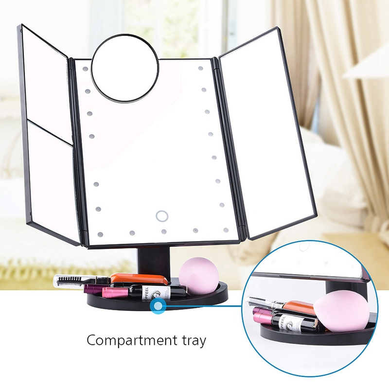 2X-LED-Press-Screen-22-Light-Makeup-Mirror-Table-Desktop-Makeup-1X-2X-3X-10-Q9T1 thumbnail 10