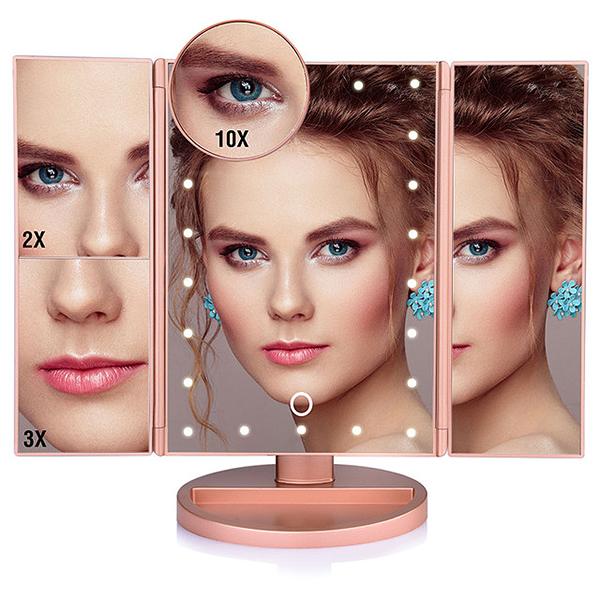 2X-LED-Press-Screen-22-Light-Makeup-Mirror-Table-Desktop-Makeup-1X-2X-3X-10-Q9T1 thumbnail 15
