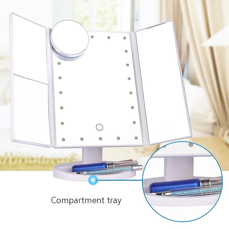 2X-LED-Press-Screen-22-Light-Makeup-Mirror-Table-Desktop-Makeup-1X-2X-3X-10-Q9T1 thumbnail 19