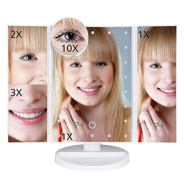 2X-LED-Press-Screen-22-Light-Makeup-Mirror-Table-Desktop-Makeup-1X-2X-3X-10-Q9T1 thumbnail 20