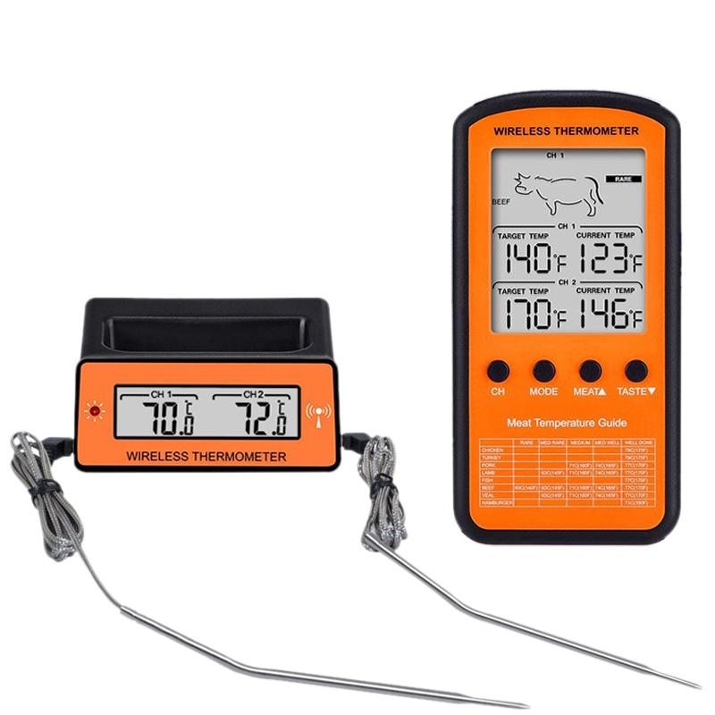 Thermometre a viande sans fil de cuisine numerique de cuisson instantanee a P5Y6
