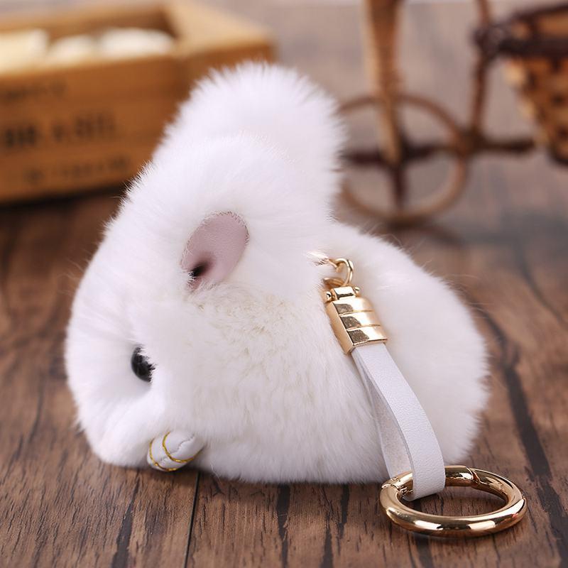 Cute-Furry-Rabbit-Keychain-Bag-Handbag-Key-Ring-Car-Jewelry-R6H5 thumbnail 3