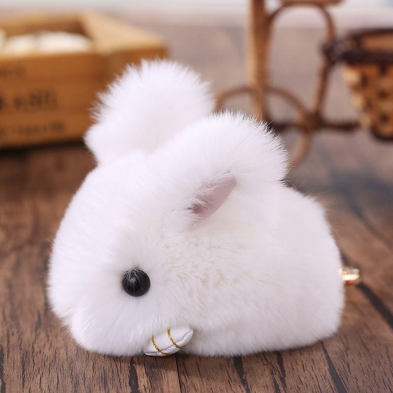 Cute-Furry-Rabbit-Keychain-Bag-Handbag-Key-Ring-Car-Jewelry-R6H5 thumbnail 4