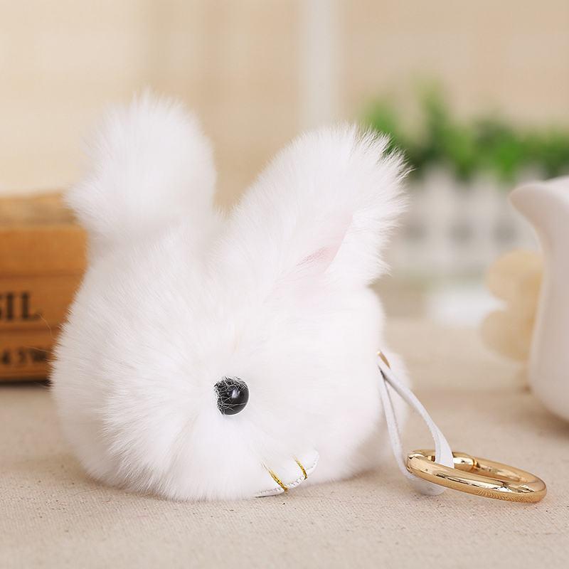 Cute-Furry-Rabbit-Keychain-Bag-Handbag-Key-Ring-Car-Jewelry-R6H5 thumbnail 5