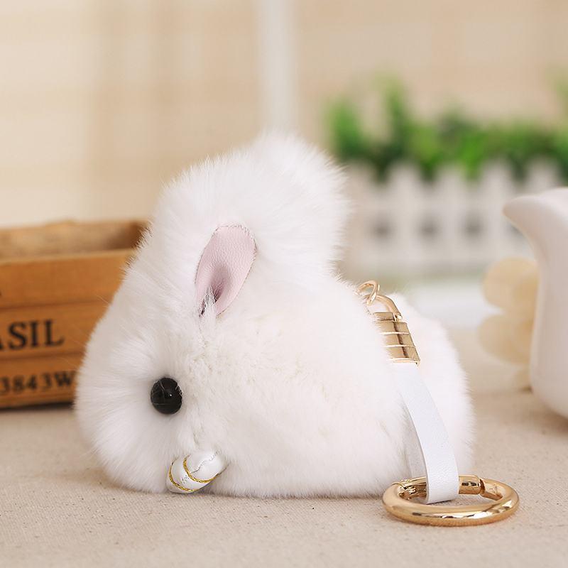 Cute-Furry-Rabbit-Keychain-Bag-Handbag-Key-Ring-Car-Jewelry-R6H5 thumbnail 6