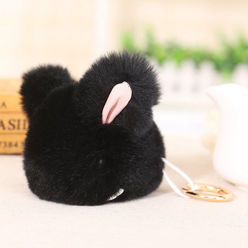Cute-Furry-Rabbit-Keychain-Bag-Handbag-Key-Ring-Car-Jewelry-R6H5 thumbnail 9