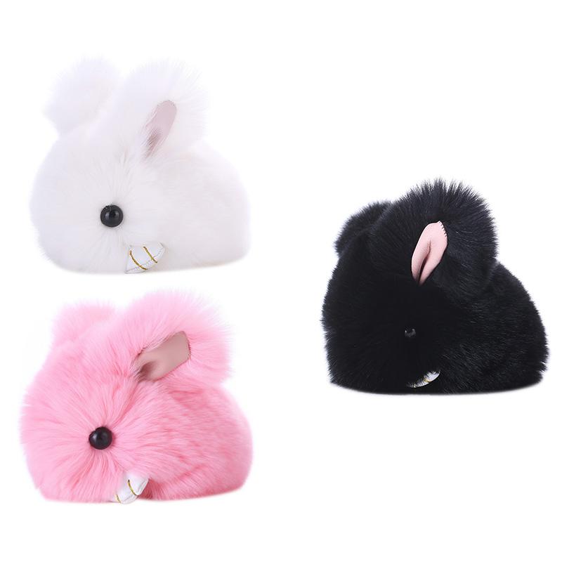 Cute-Furry-Rabbit-Keychain-Bag-Handbag-Key-Ring-Car-Jewelry-R6H5 thumbnail 13