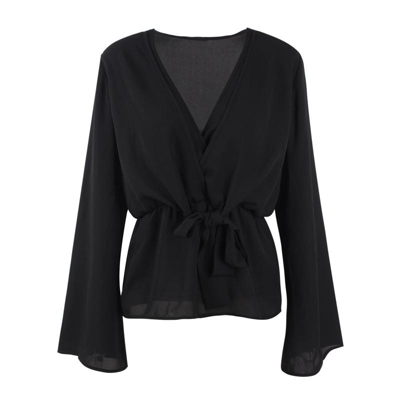 Veste-de-Couleur-Pure-D-039-Automne-A-La-Mode-Pour-Femme-Vetement-Elegant-de-Ta-B7Q4 miniature 3