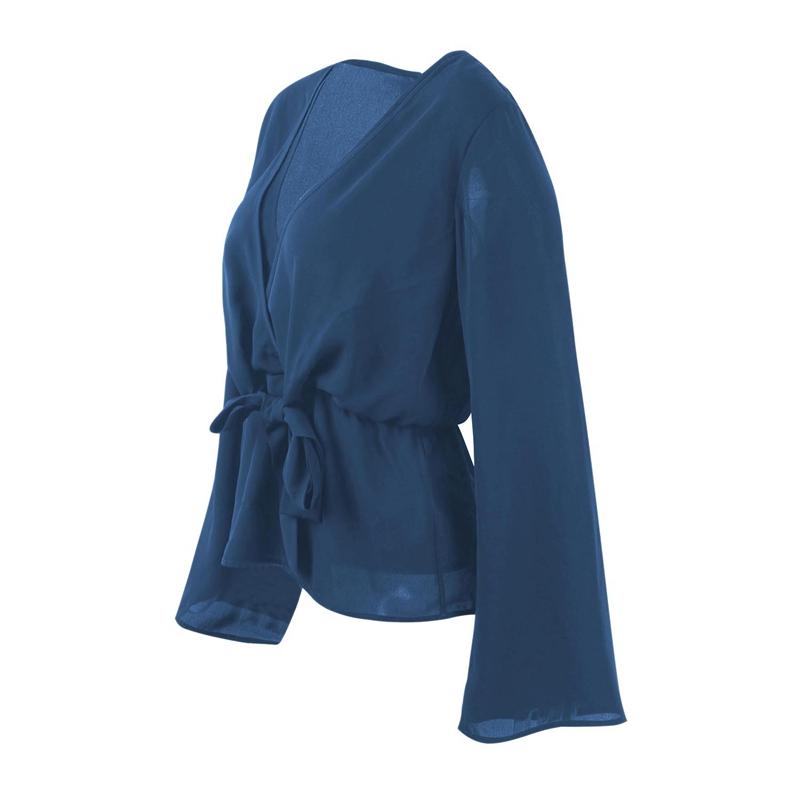 Veste-de-Couleur-Pure-D-039-Automne-A-La-Mode-Pour-Femme-Vetement-Elegant-de-Ta-B7Q4 miniature 18