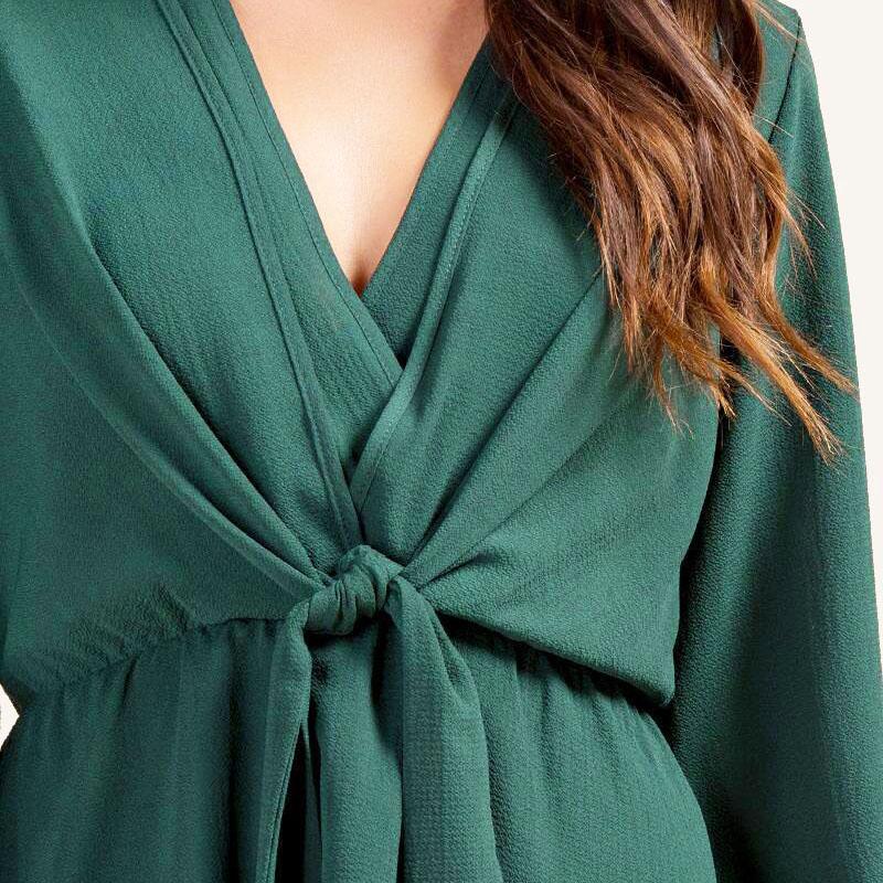 Veste-de-Couleur-Pure-D-039-Automne-A-La-Mode-Pour-Femme-Vetement-Elegant-de-Ta-B7Q4 miniature 26