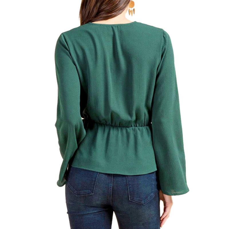 Veste-de-Couleur-Pure-D-039-Automne-A-La-Mode-Pour-Femme-Vetement-Elegant-de-Ta-B7Q4 miniature 27