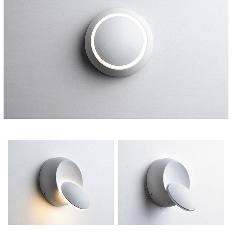 Lampe-Murale-Led-Lampe-de-Chevet-Ajustable-A-360-Degres-Avec-Rotation-Lampe-5S9 miniature 11