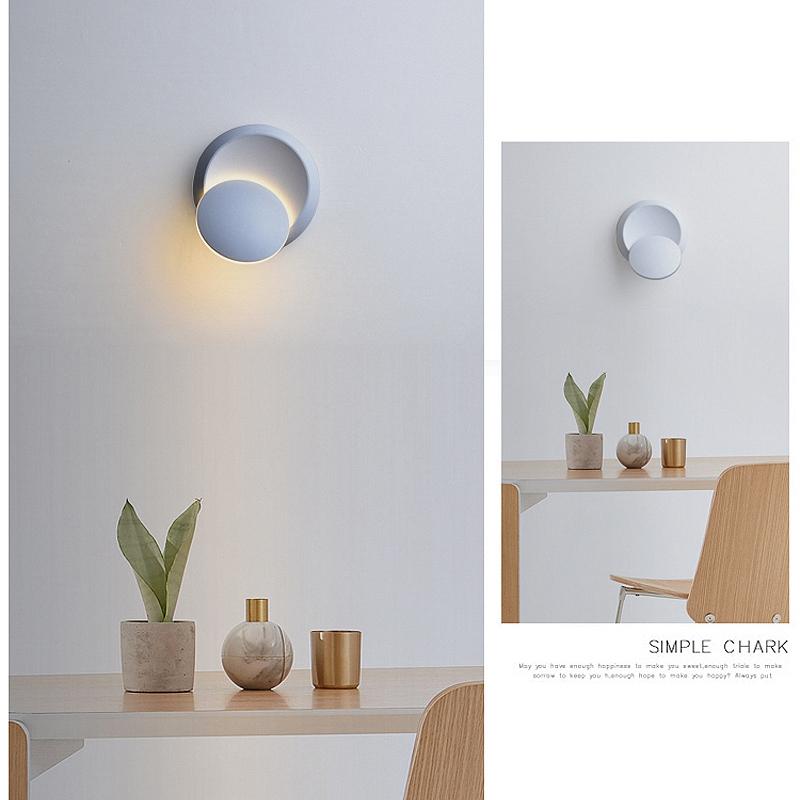 Lampe-Murale-Led-Lampe-de-Chevet-Ajustable-A-360-Degres-Avec-Rotation-Lampe-5S9 miniature 13