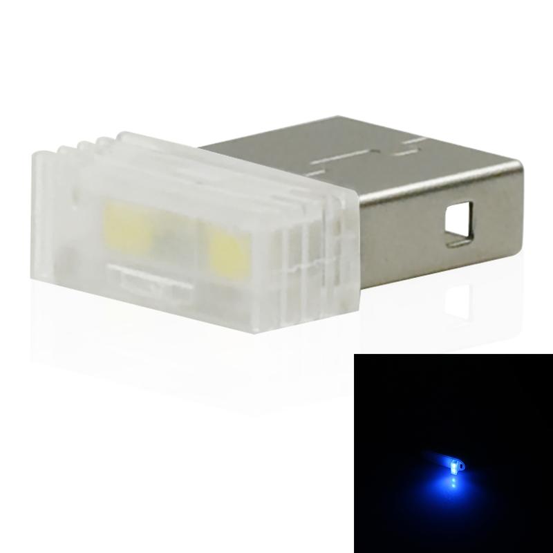 Mini-Usb-Led-Luz-De-La-Noche-Lampara-De-La-Atmosfera-Luz-Del-Coche-P2K5 miniatura 3