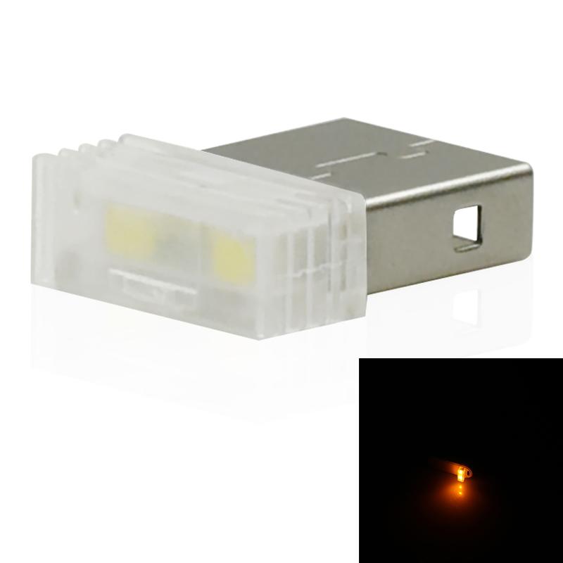 Mini-Usb-Led-Luz-De-La-Noche-Lampara-De-La-Atmosfera-Luz-Del-Coche-P2K5 miniatura 23