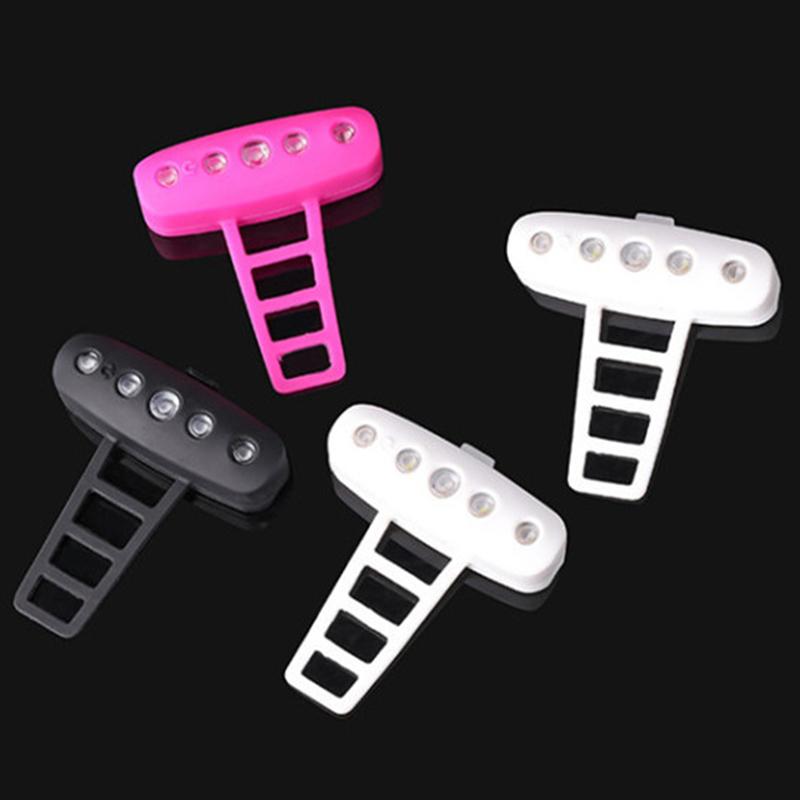 USB-Ricaricabile-Bike-LED-Fanale-Posteriore-Bicicletta-Sicura-Luce-Ciclismo-K8V9 miniatura 5