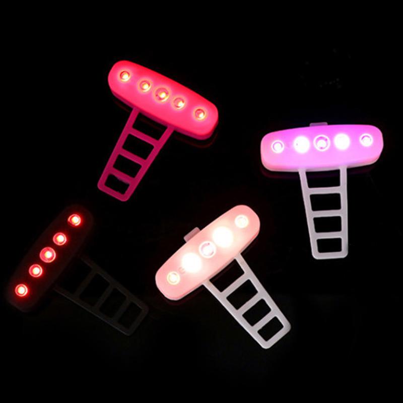 USB-Ricaricabile-Bike-LED-Fanale-Posteriore-Bicicletta-Sicura-Luce-Ciclismo-K8V9 miniatura 14