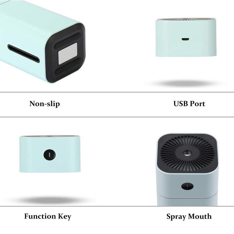 Humidificateur-USB-7-Couleurs-Led-Petit-Humidificateur-A-Pour-Table-Voyage-Y5G8 miniature 13