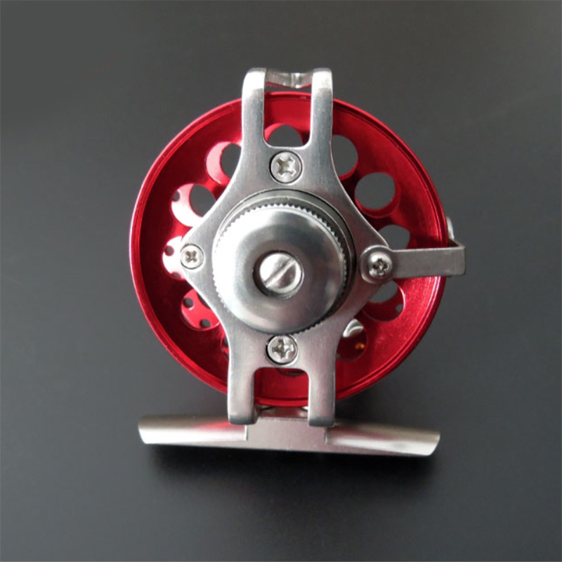roue-de-Ligne-de-poisson-Avec-traine-Moulinet-de-peche-sur-glace-moulinets-3F9 miniature 3