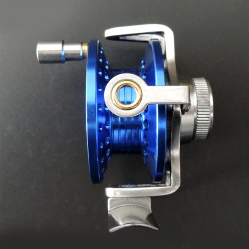 roue-de-Ligne-de-poisson-Avec-traine-Moulinet-de-peche-sur-glace-moulinets-3F9 miniature 5