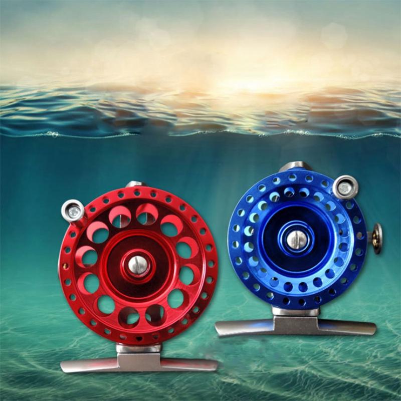 roue-de-Ligne-de-poisson-Avec-traine-Moulinet-de-peche-sur-glace-moulinets-3F9 miniature 11
