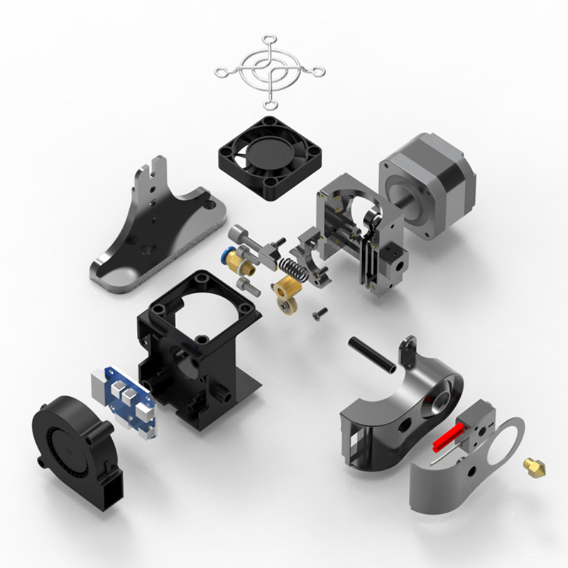 New-Dual-Fan-Printer-Accessories-Durable-Extruder-Cooling-Heat-Dissipation-O2U1 thumbnail 5