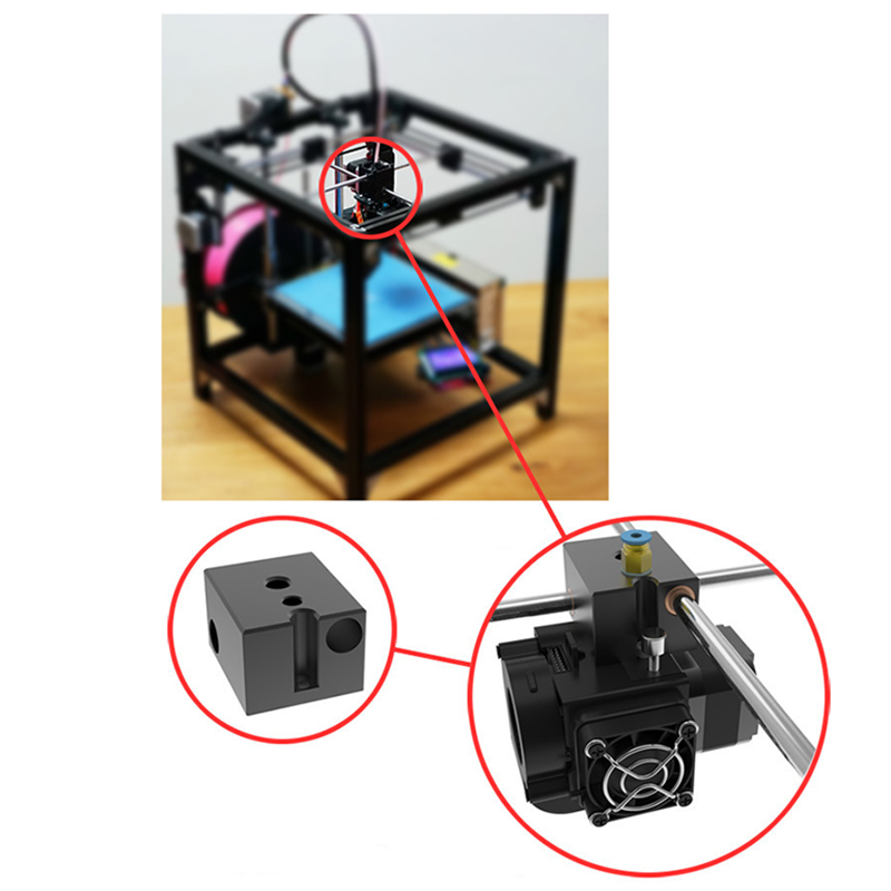 New-Dual-Fan-Printer-Accessories-Durable-Extruder-Cooling-Heat-Dissipation-O2U1 thumbnail 6
