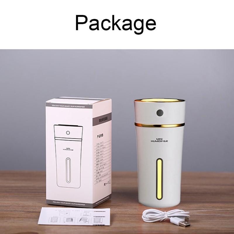 Rechargeable-300ml-Usb-Mini-Humidificateur-Avec-Batterie-Mignon-Coupe-Cool-Y4U6 miniature 4