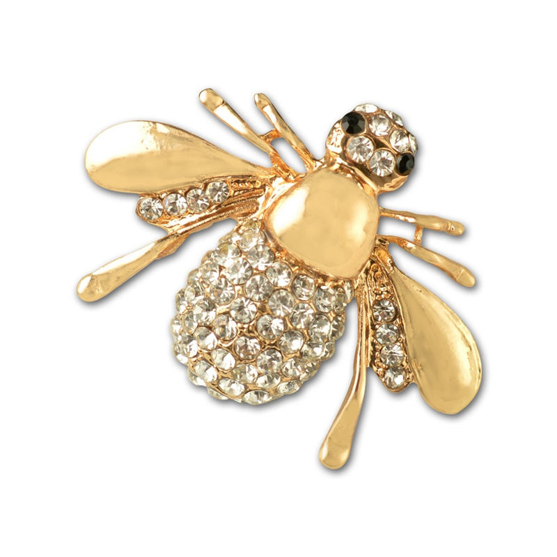 95395bf36 Rhinestone Animal Brooch Cute Alloy Bee Gold Brooch Women'S Fine Jewelry  G1X2