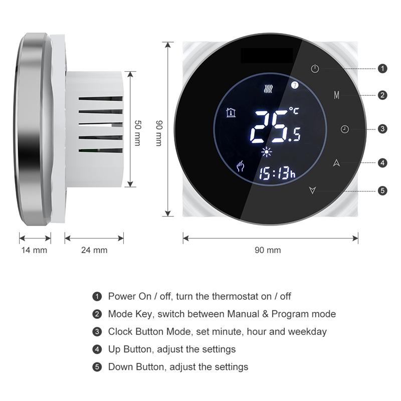 Bht-6000Gblw-16A-Wifi-Elektrische-Heizung-Thermostat-Fussboden-Heizung-Konst-E2L2 Indexbild 10