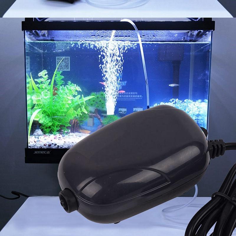 Prise-europeenne-Aquarium-Pompe-A-Air-Aquarium-Mini-Compresseur-Silencieux-Z7H3 miniature 7