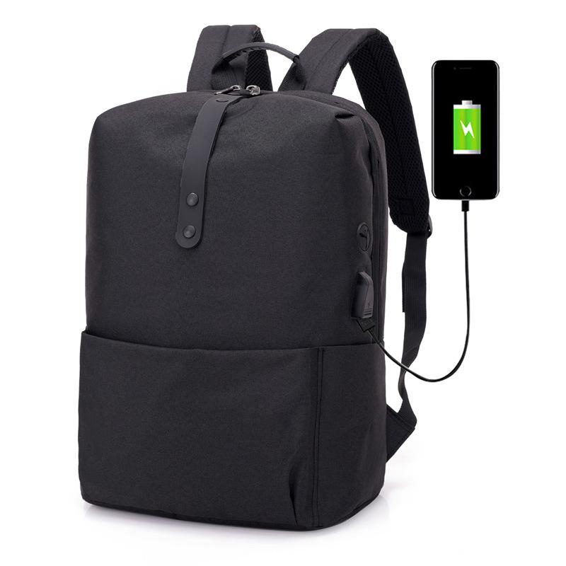 Hombres-Mochila-Antirrobo-Multifuncional-Mochila-Portatil-Portatil-USB-Carg-J9N6 miniatura 4