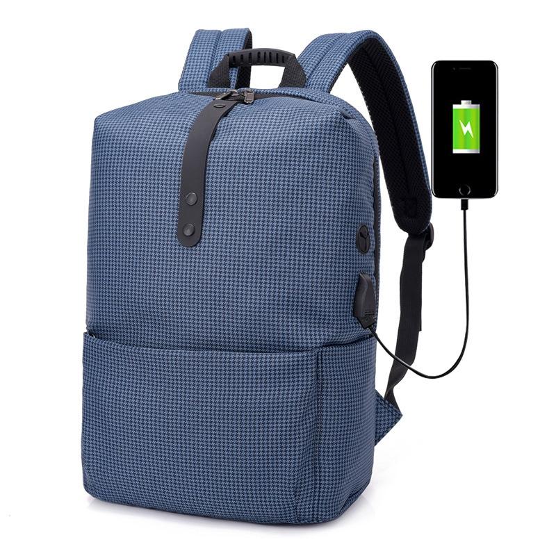 Hombres-Mochila-Antirrobo-Multifuncional-Mochila-Portatil-Portatil-USB-Carg-J9N6 miniatura 13