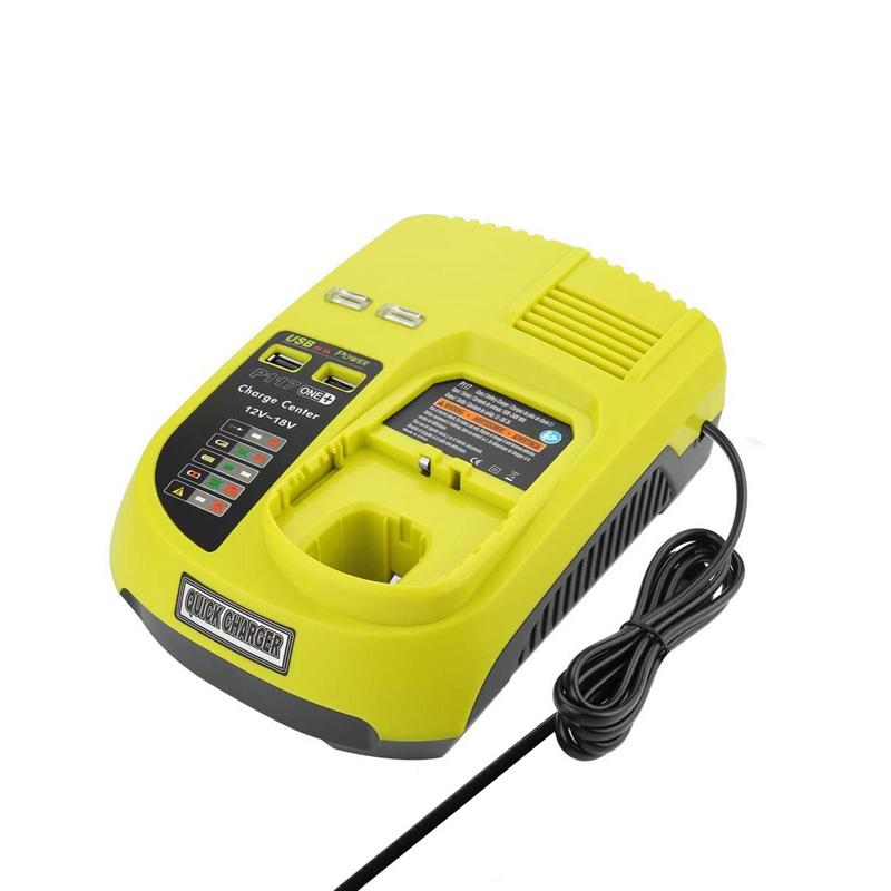 3A 12V 14.4V 18V Pour Ryobi P117 Chargeur De Batterie Rechargeable Batterie P f7