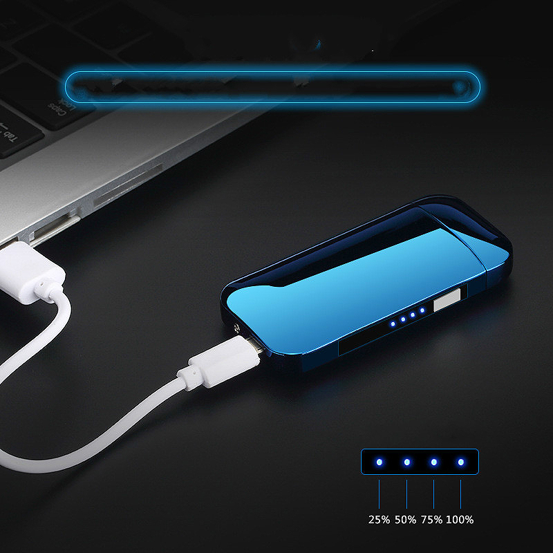 Metal-Windproof-Electronic-Usb-Charging-Cigarette-Lighter-Double-Arc-Plasma-Y1H2 thumbnail 6