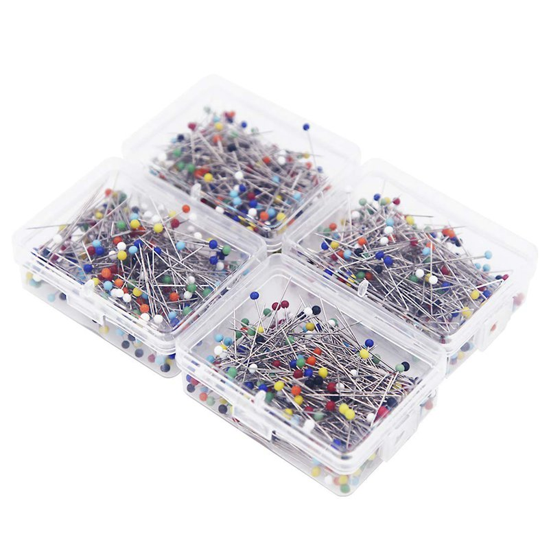 2X1000 Pieces Sewing Pins,1.5 Inch MultiColor Glass Ball Head Pins,Strai E2C5