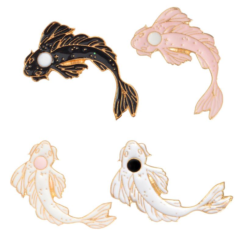 Traje-Collar-Pin-Animal-Broche-De-Pescado-Carpa-Linda-Animal-Fish-K2N4 miniatura 3