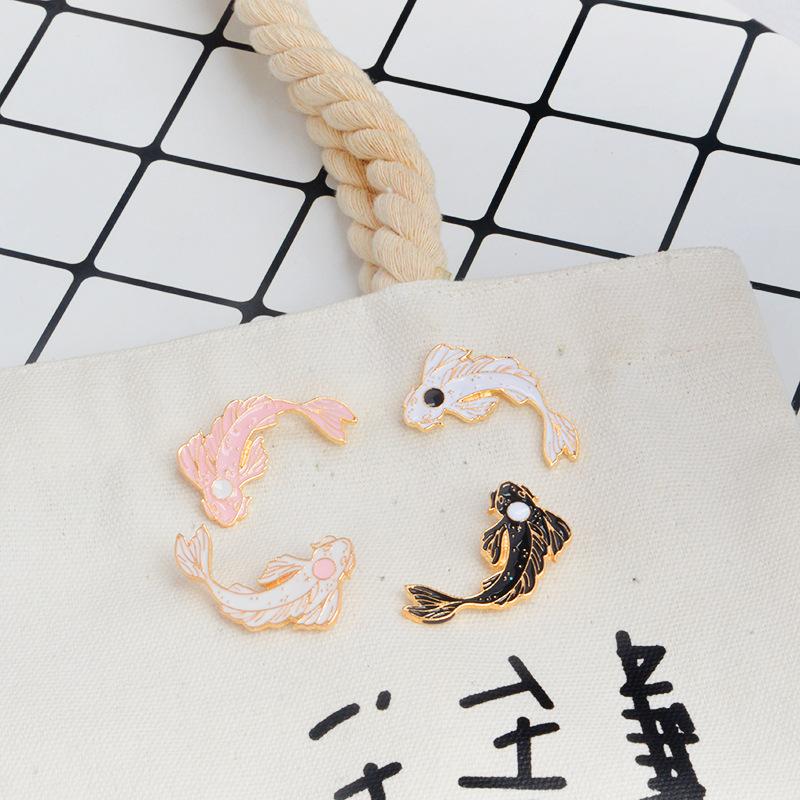 Traje-Collar-Pin-Animal-Broche-De-Pescado-Carpa-Linda-Animal-Fish-K2N4 miniatura 4