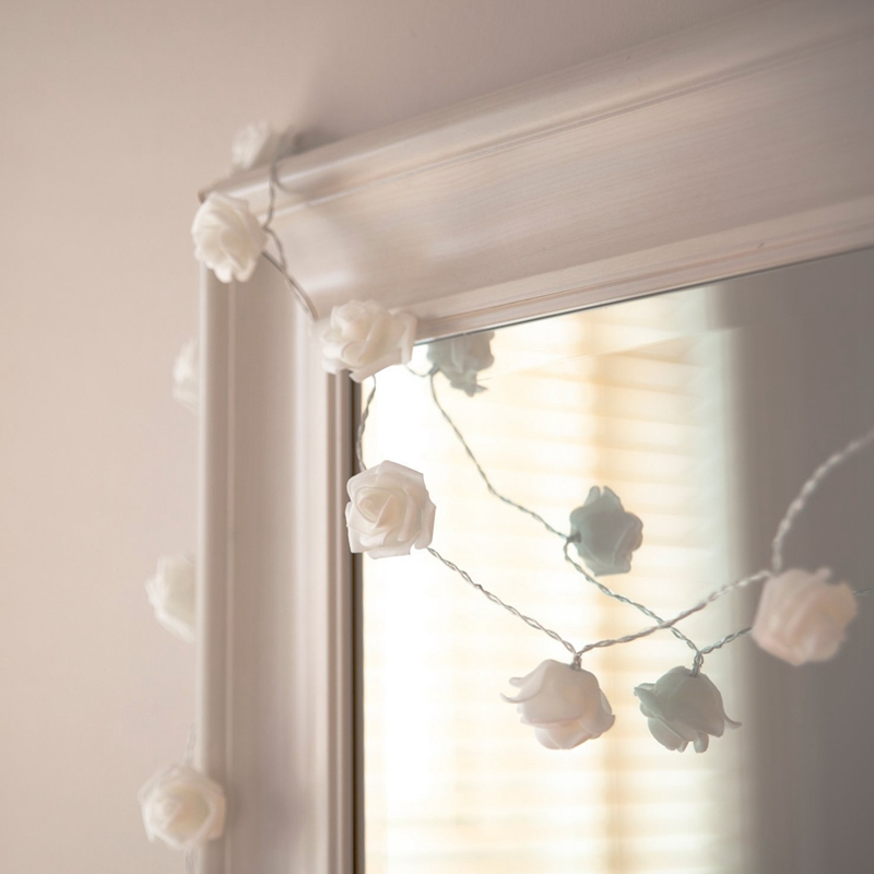 USB-20-Roses-Flower-Garland-Led-Christmas-Holiday-String-Lights-Valentine-W-O4R8 thumbnail 3