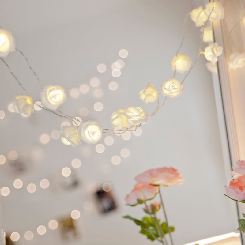 USB-20-Roses-Flower-Garland-Led-Christmas-Holiday-String-Lights-Valentine-W-O4R8 thumbnail 4