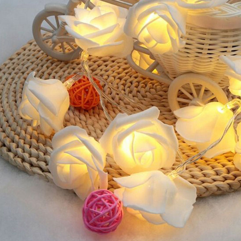 USB-20-Roses-Flower-Garland-Led-Christmas-Holiday-String-Lights-Valentine-W-O4R8 thumbnail 6