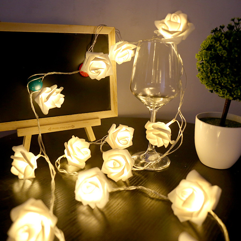 USB-20-Roses-Flower-Garland-Led-Christmas-Holiday-String-Lights-Valentine-W-O4R8 thumbnail 7