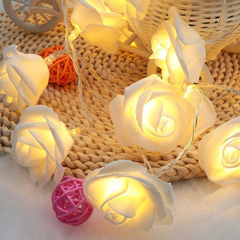 USB-20-Roses-Flower-Garland-Led-Christmas-Holiday-String-Lights-Valentine-W-O4R8 thumbnail 9